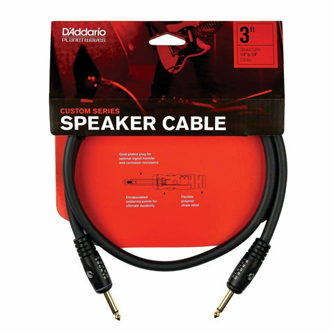 D'Addario PW-S-03 3' Custom Series Speaker Cable. Designed For Head To Cab Use