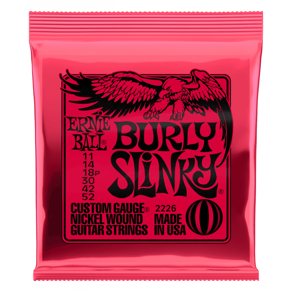 Ernie Ball Burly Slinky Electric Guitar Strings.Gauge:11 - 52w. P/N 2226