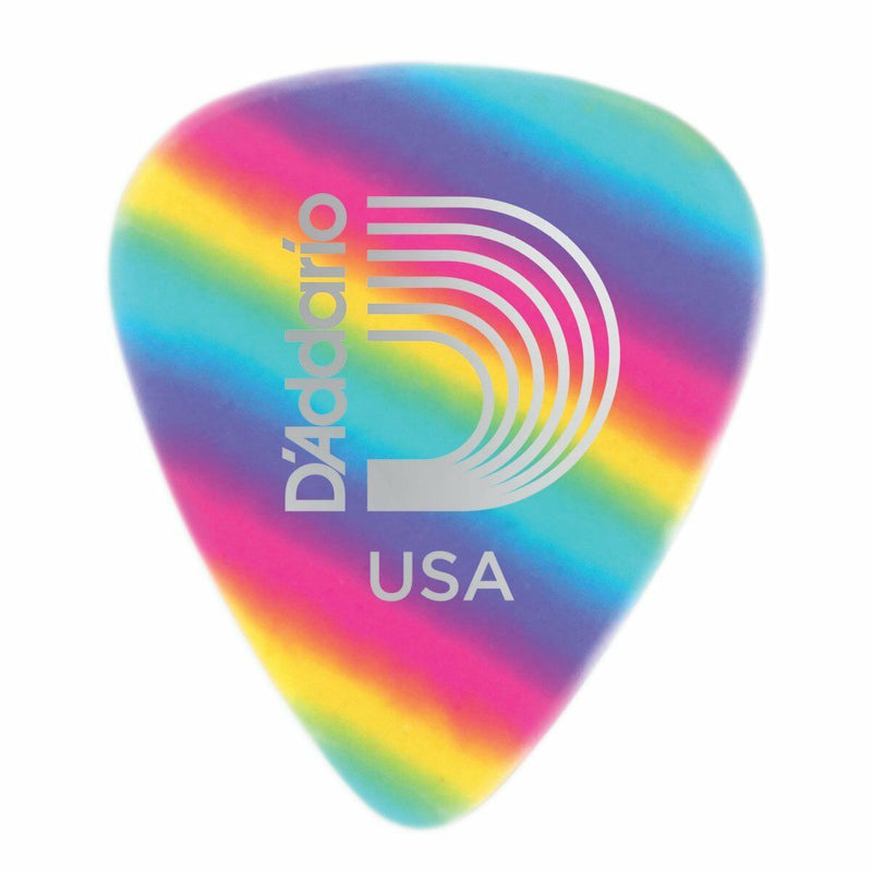 D'Addario 1CRB2-10 Rainbow Celluloid Guitar Picks Light .50mm10 Pack