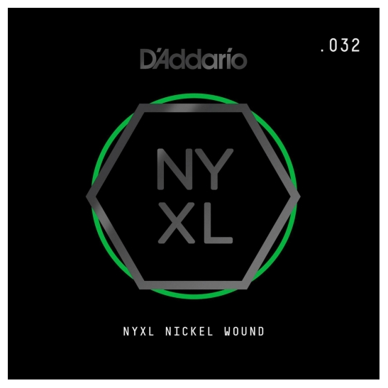 D'Addario NYNW032 NYXL Nickel Wound Electric Guitar Single String, X 2 Strings