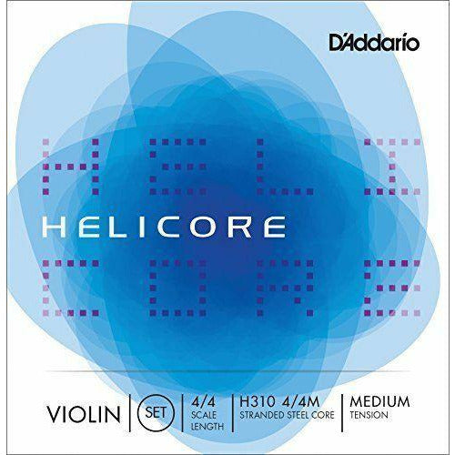 D'Addario Helicore Violin String Set 4/4 Scale, Medium Tension. P/N0:-H310M 4/4