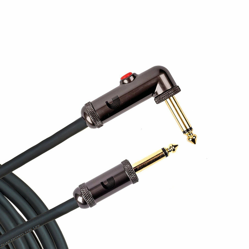D'Addario PW-AGLRA-10' R/A Circuit Breaker Guitar Cable