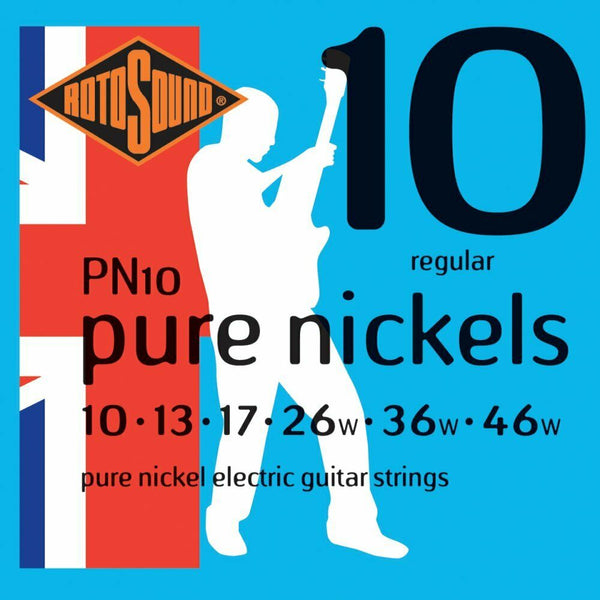 Rotosound PN10 Pure Nickels Electric Guitar Strings 10-46 UK Made!!