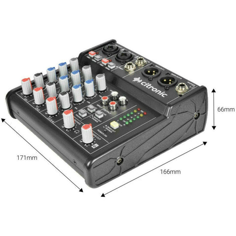 Citronic U-PAD Compact Mixer With USB Interface. Home Recording, POD Cast etc...