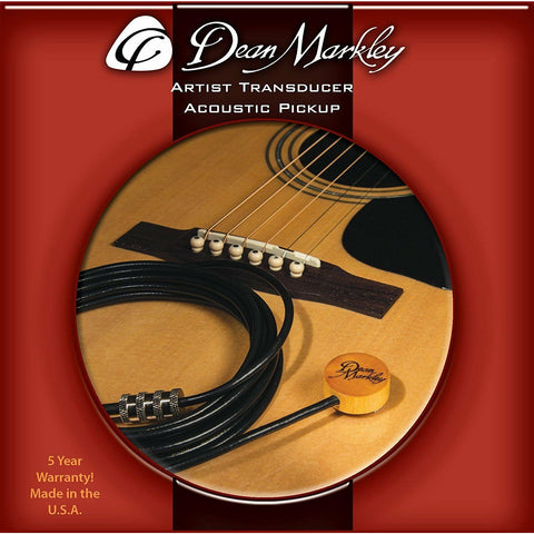 Dean Markley DM3000 Artist Transducer For Guitar,Violin,Cello,Banjo,Mandolin