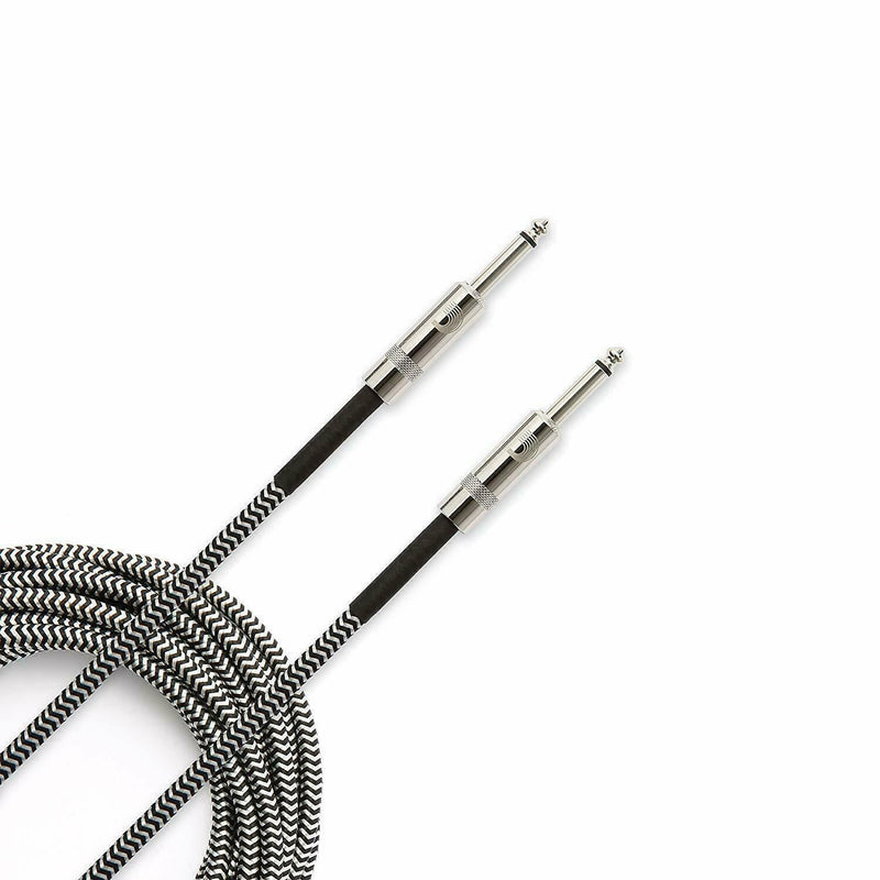 D'Addario Accessories Braided Instrument Cable Grey 20 feet PW-BG-20BG