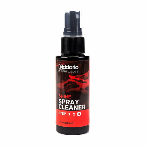 D'Addario 'Shine' - Instant Guitar Spray Cleaner. P/No:PW PL 03S 59.1ml