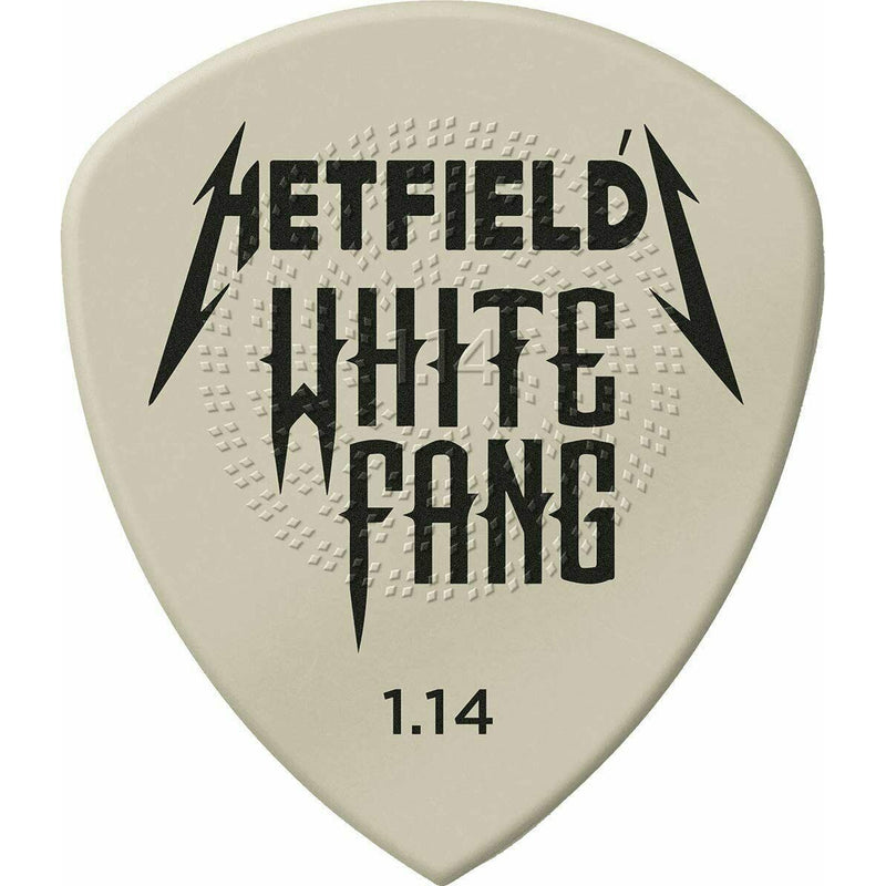 Dunlop White Fang 1.14 mm Dunlop Hetfields Custom Guitar Pick PH122P1.14