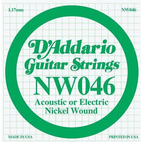 D'Addario Nickel Wound Single Guitar Strings 5 X 046.P/No:-NW046