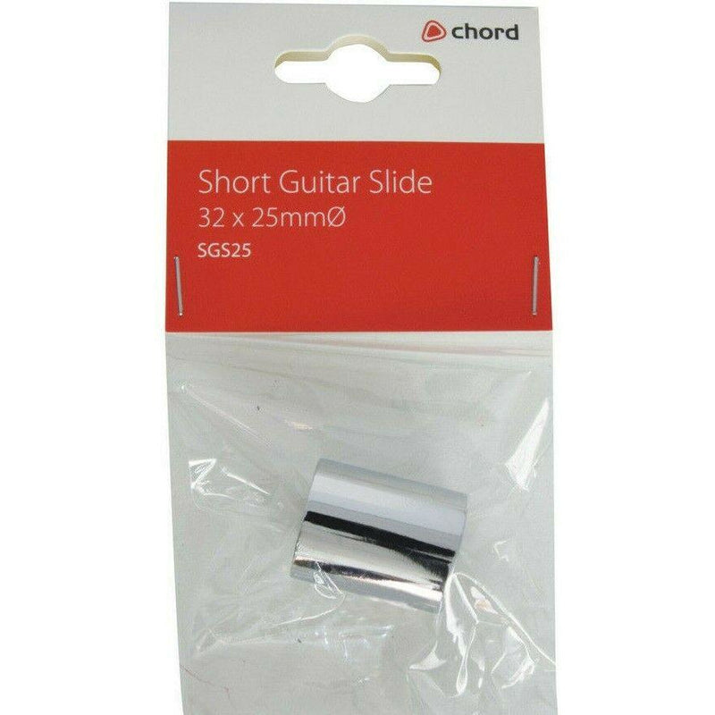 Chord SGS25 Chrome Guitar Slide,Dimensions 32 x 25mmØ Weight 40g
