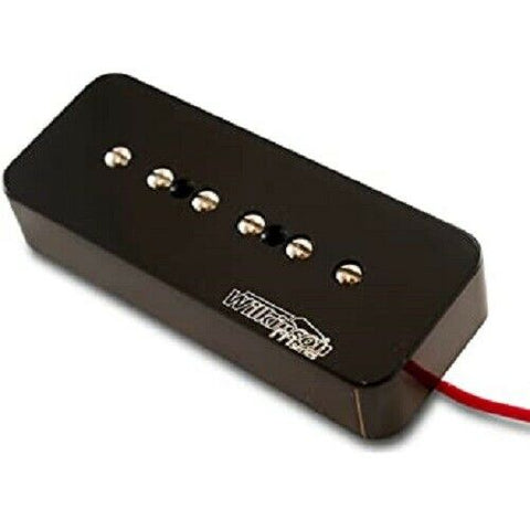 Wilkinson Ceramic P90 Style Pickup  Stacked Neck In Black Cover W90SKN