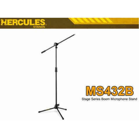 Hercules MS432B Stage Series Microphone Boom Stand.Gig Quality, Robust, Simple !