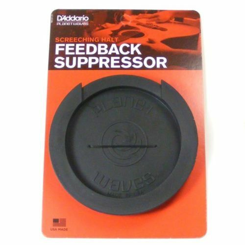 D'Addario 'Screeching Halt'  Feedback Buster Acoustic Sound Hole Cover. PW SH 01