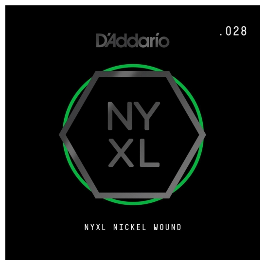 D'Addario NYNW028 NYXL Nickel Wound Electric Guitar Single String, X 2 Strings