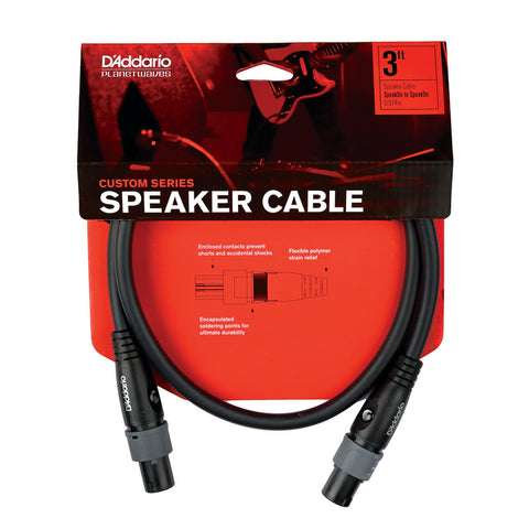D'Addario PW-SO-03 SpeakOn Speaker Cable,3 feet.Designed For Head to Cab Use