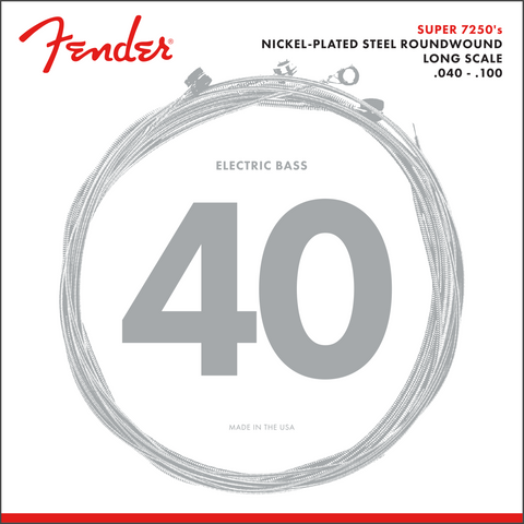 Fender 7250L Bass Strings, NPS, Long Scale, 7250L .040-.100 P/N 0737250403