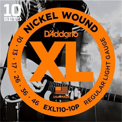 D'Addario EXL110 Pro Pack Electric Guitar Strings10-46.10 Sets At A Huge Saving! - D'Addario - Craigs Music Ltd