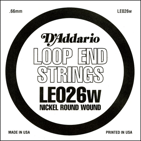 2x D'Addario LE026w Nickel Wound Loop End Mandoli - D'Addario - Craigs Music Ltd
