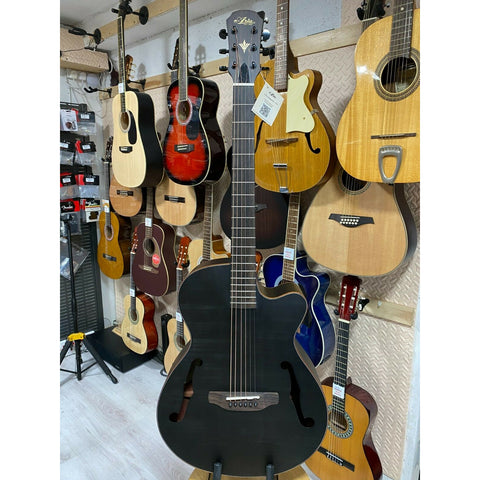 Aria FET F2 Electro Acoustic Guitar. Open-Pore Matt Stained Black Finish