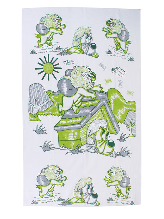Misty Rose Print Towel