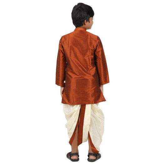 Kids Kurta Panchakacham Set - Choco Brown (4361383739439)