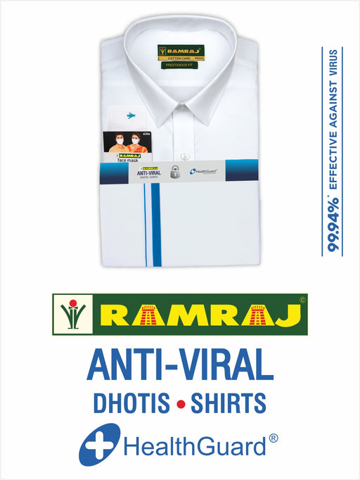 We Care Anti-Viral Dhoti SB & Half Sleeves Shirt Set