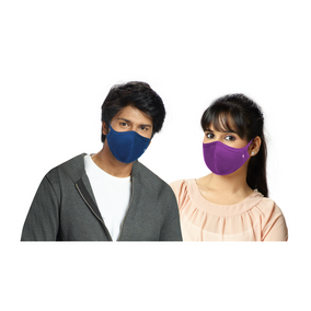 Flexible Knitted Face Mask 3 Layer - Colour [ 3 Pcs Pack ]