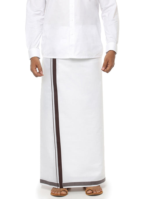 Redfort SPL Double Dhoti - Brown