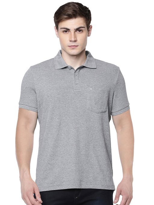 Liquid Polo Pocket T-Shirt - Grey Melange