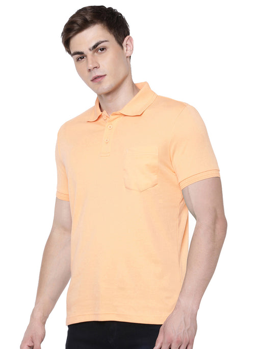 Liquid Polo Pocket T-Shirt - Peppy Peach