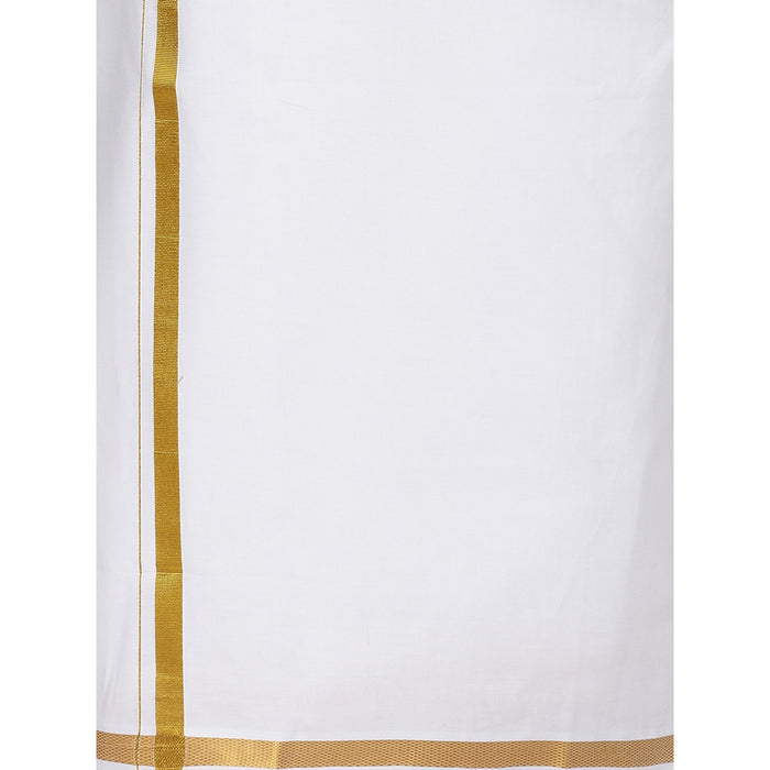 Genxt Elegant(W) 246 - White Adjustable Dhoti