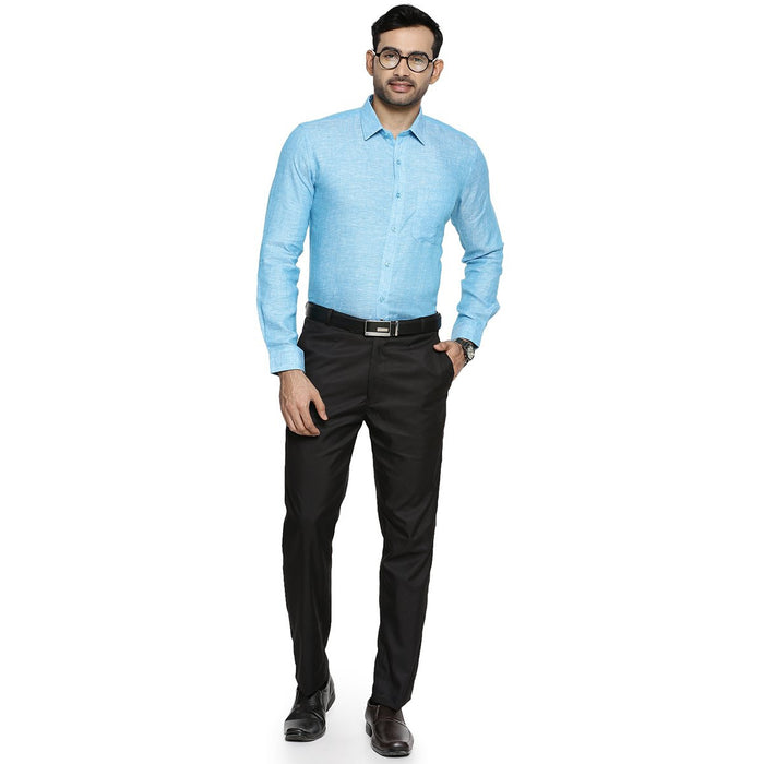 Linen Park 5605C Full Sleeve Shirt - Blue (4360793096239)