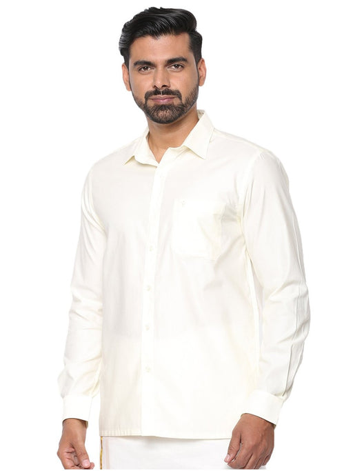 Mangalyam Cream Full Sleeves Shirt