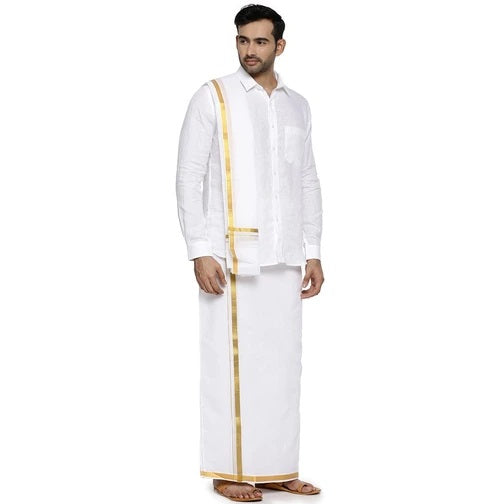 Agaram 1/2 Dhoti and Towel Set