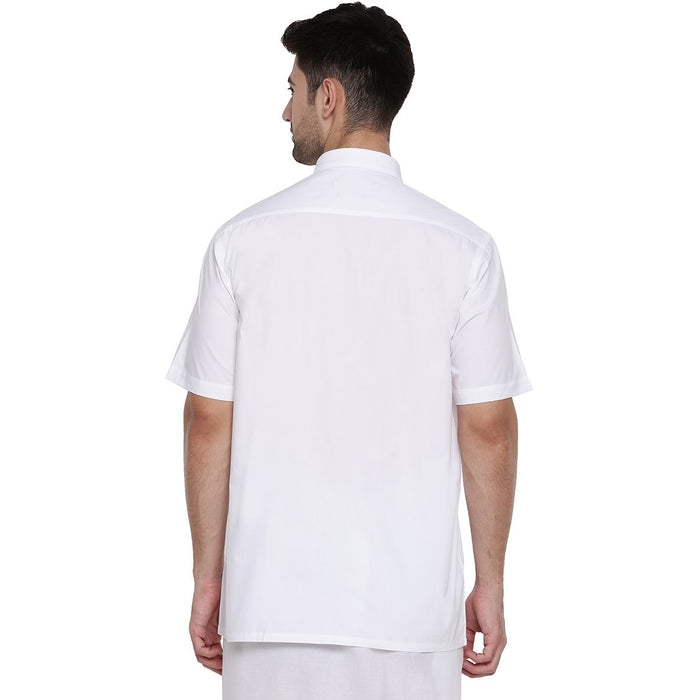 Justice White Half Sleeves Shirt (1356372279343)