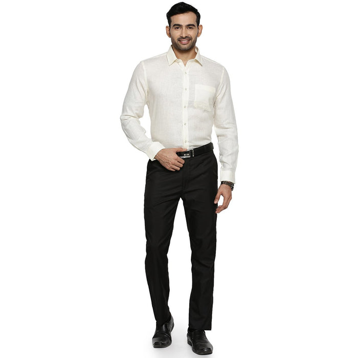 Linen Park 5605C Full Sleeve Shirt - Cream (4362317004847)