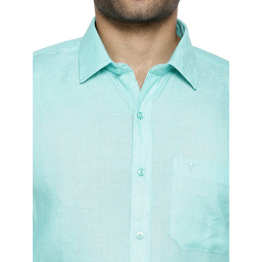 Linen Park 5605C Full Sleeve Shirt - LT Green (4362341220399)