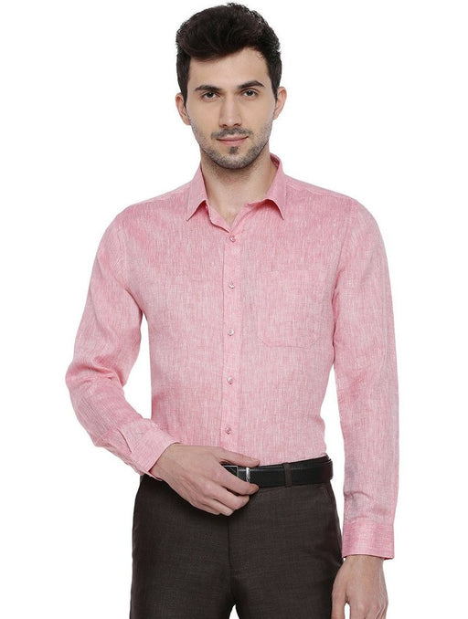 Linen Park 5605C Full Sleeves Shirt - LT Pink