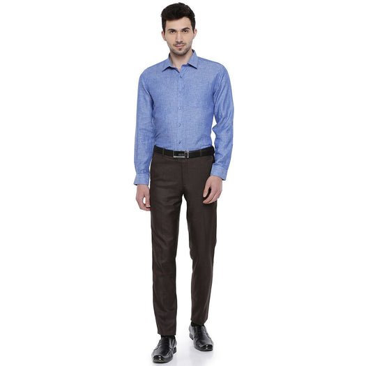 Linen Park 5605C Full Sleeve Shirt - Lapis Blue (1359772319791)