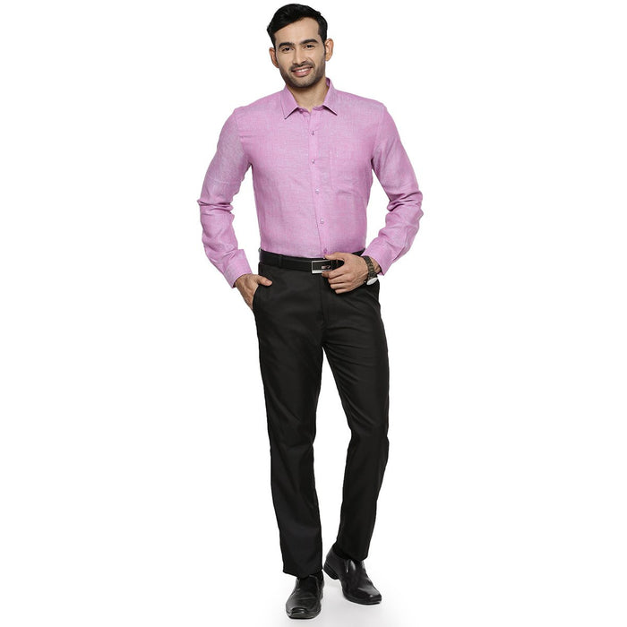 Linen Park 5605C Full Sleeve Shirt - Purple (4362319069231)