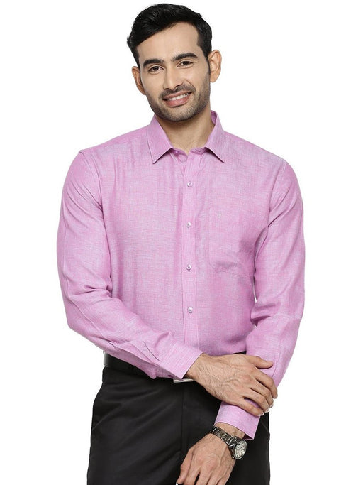 Linen Park 5605C Full Sleeves Shirt - Purple
