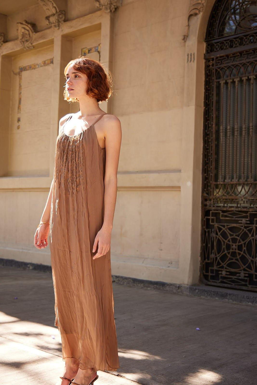Maxi Dress color Copper - VIEJO AMOR