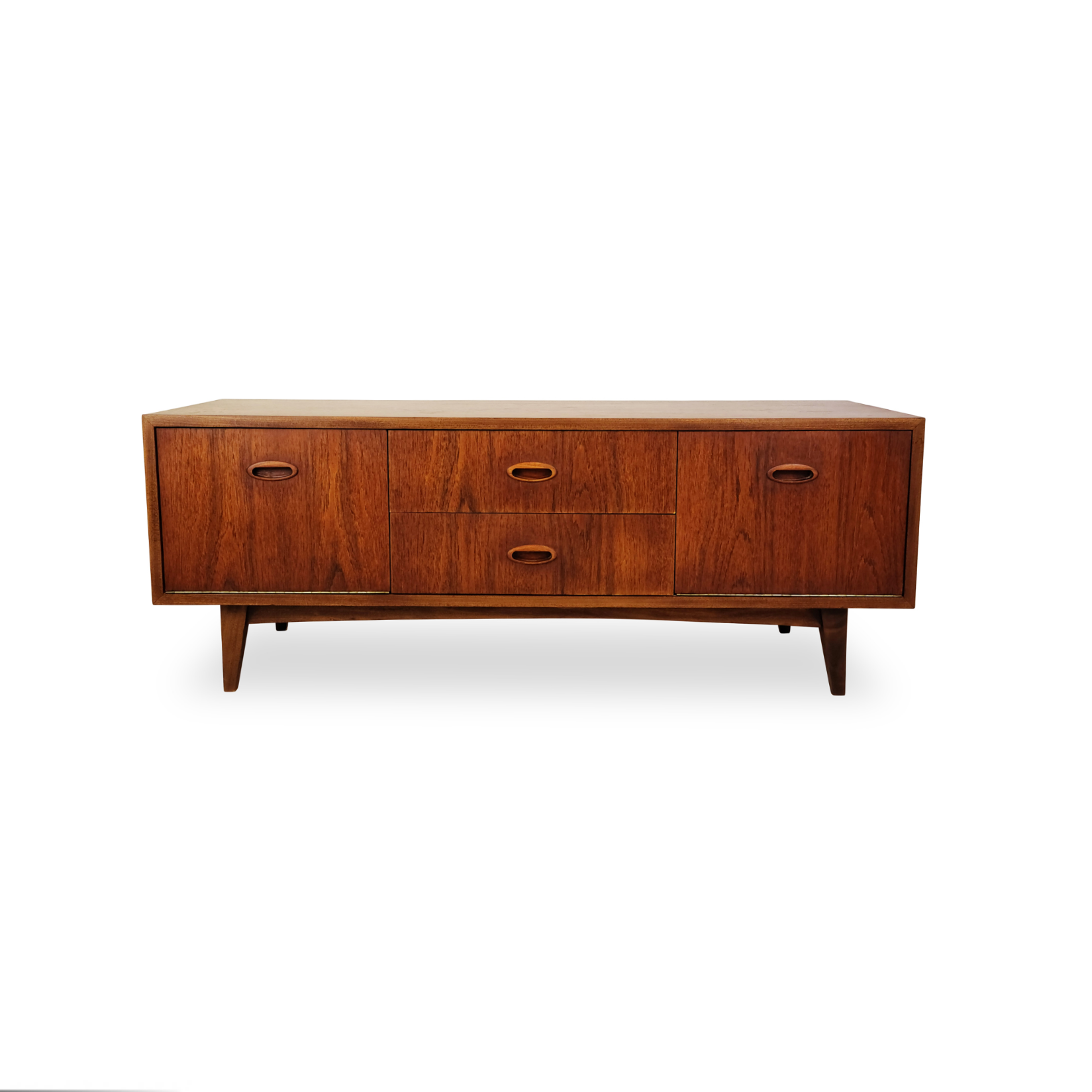 Teak Low Profile Media Unit