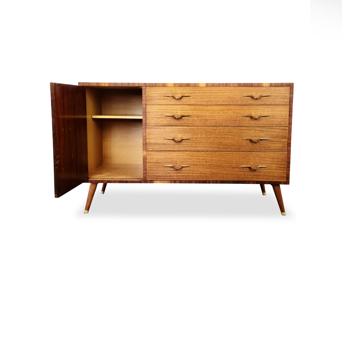 Mahogany and Brass Sideboard