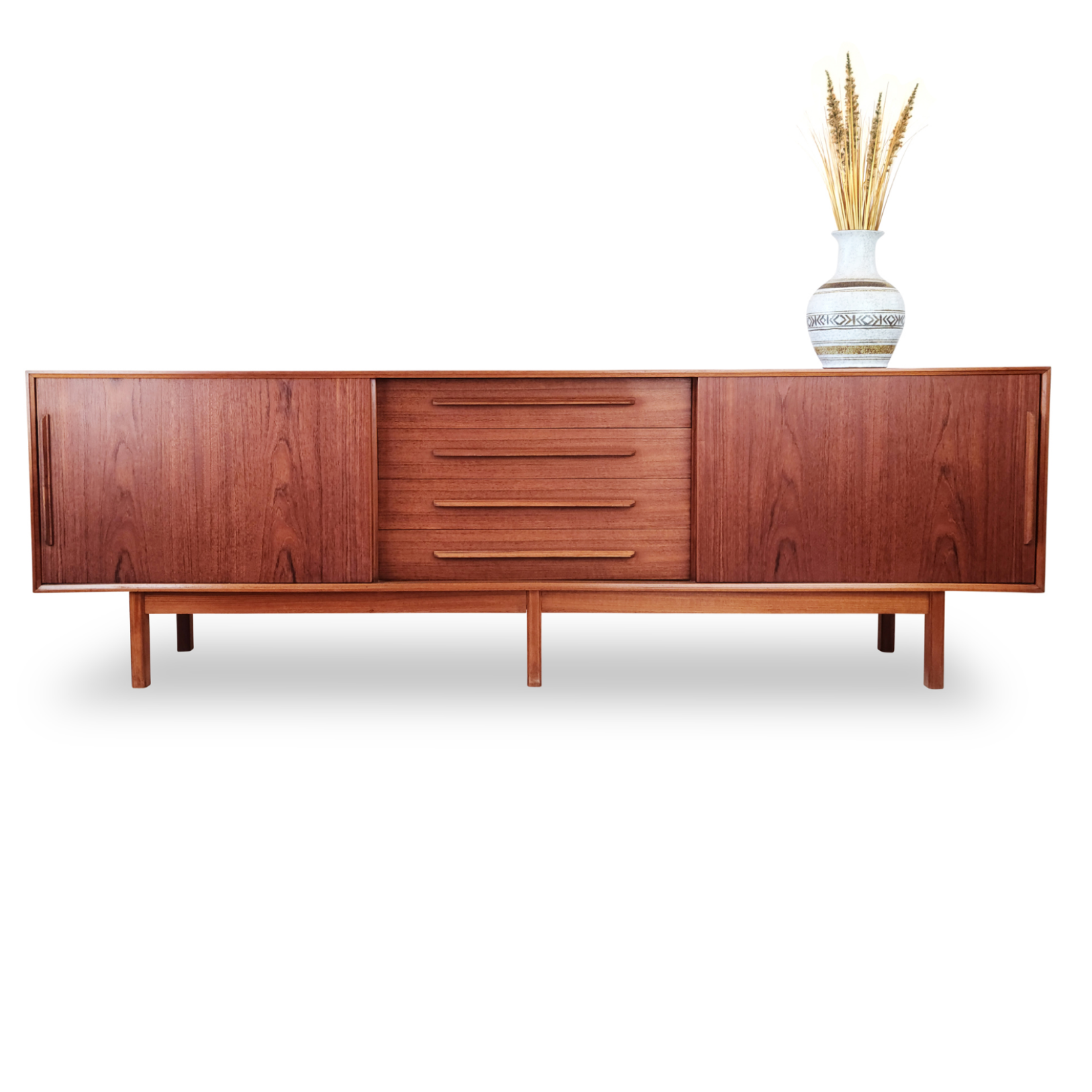 Teak XL six legged Sideboard from the Netherlands