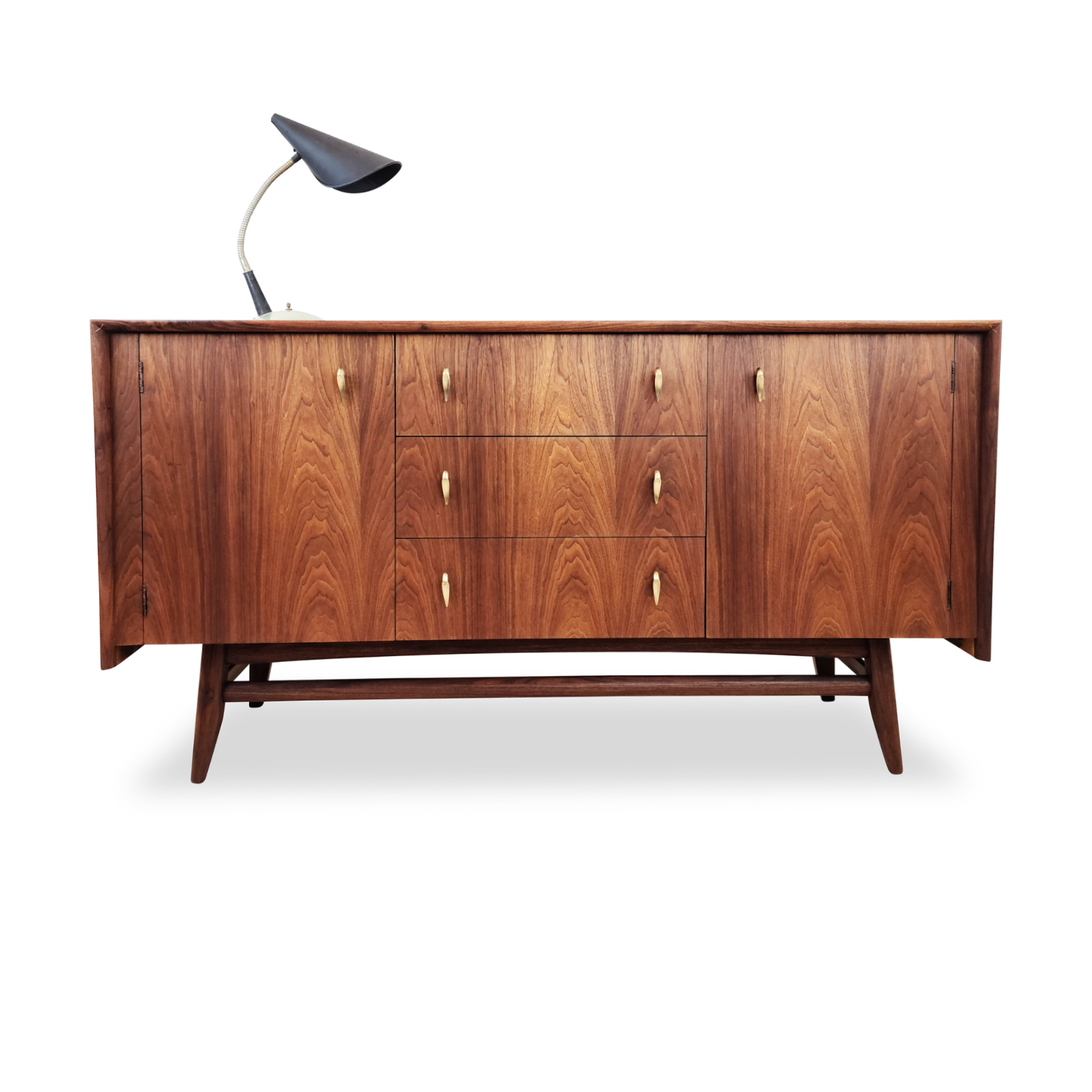 Walnut and Brass Sideboard by Russell Spanner
