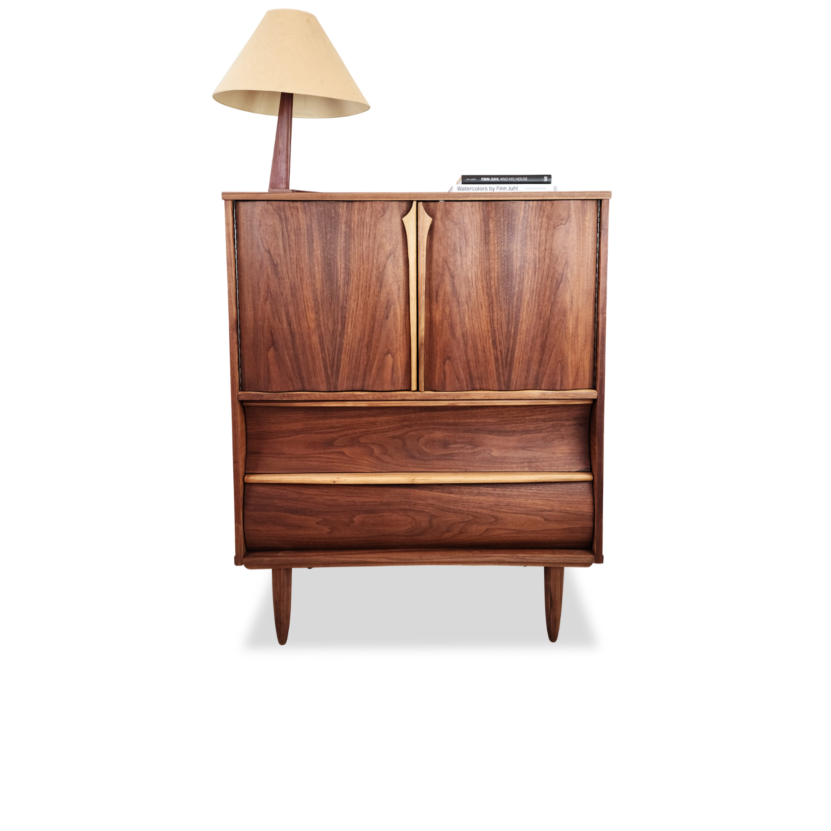 Walnut Upright Dresser