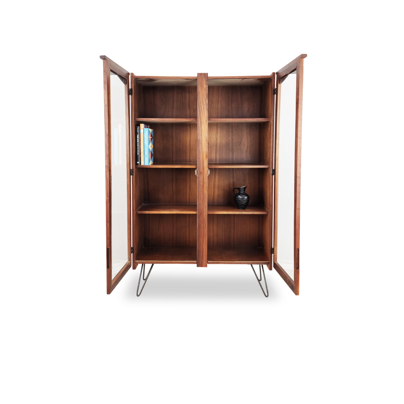 Walnut Bookcase/Display Case