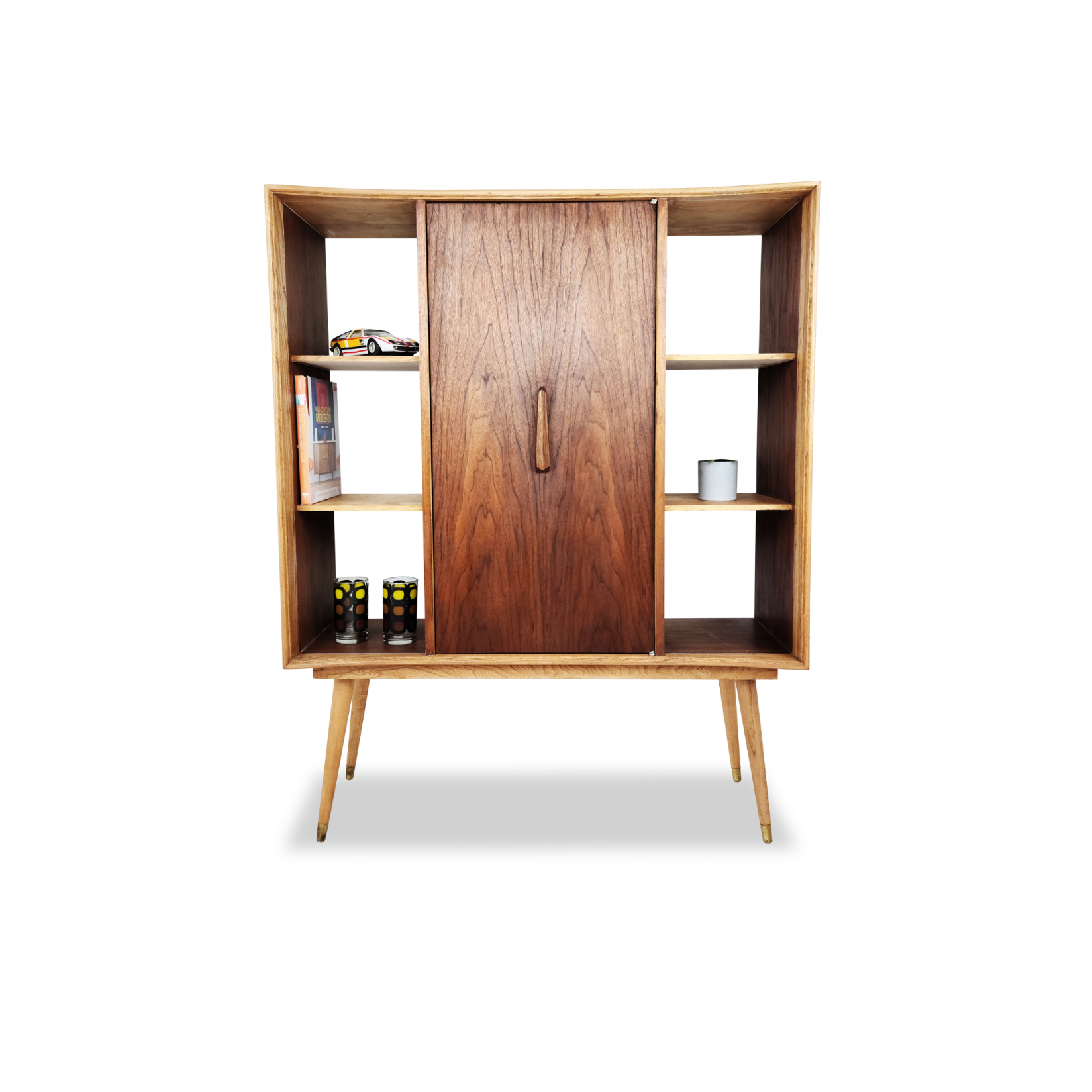 Walnut and Ash Bookcase by Deilcraft