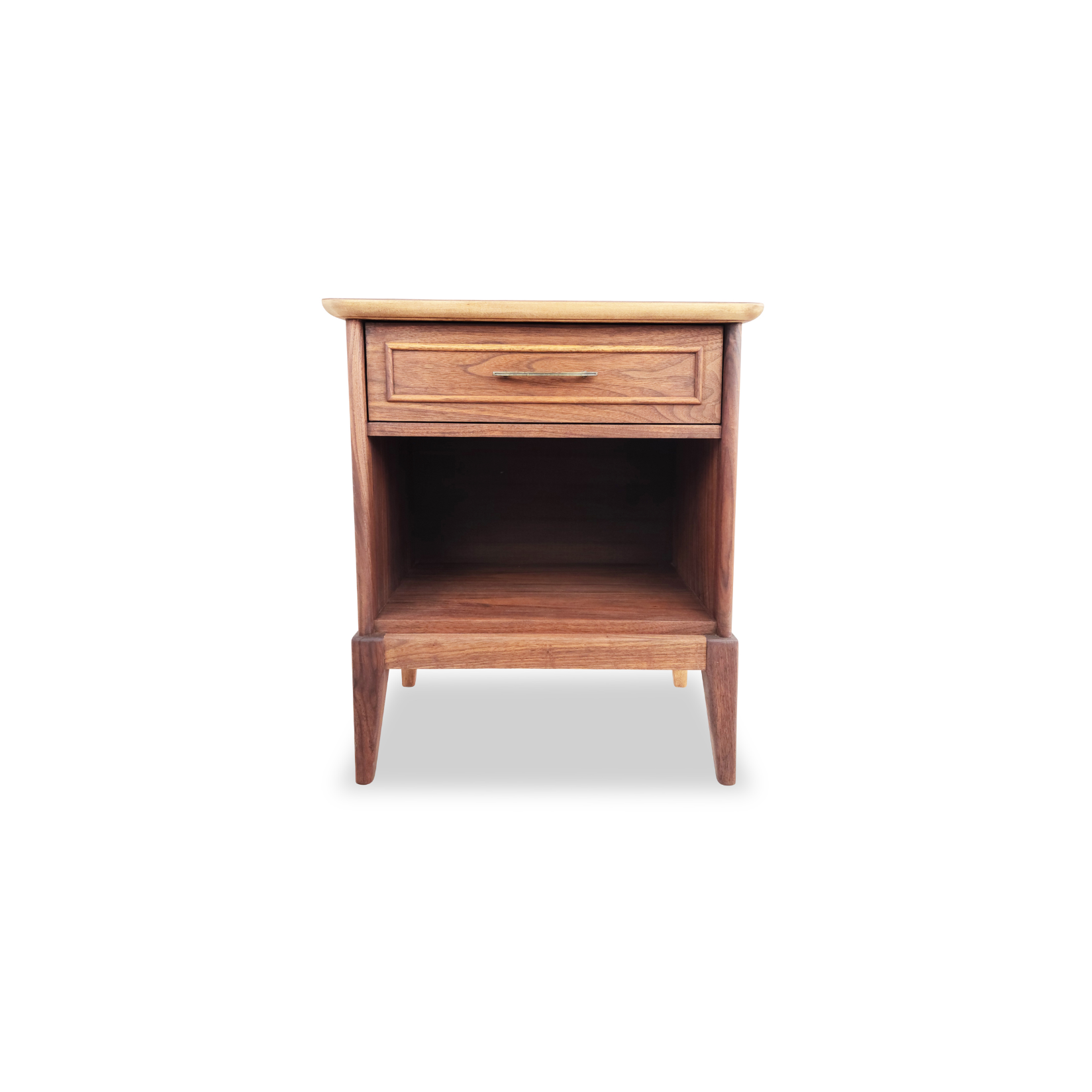 Walnut Nightstand by Gibbard